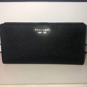 Kate Spade Bifold Large Slim Wallet W/ Coin Purse